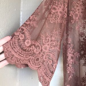 Listicle Brown Lace Cover-up